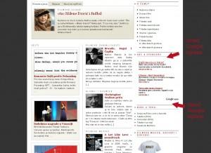 reklama na svim stranama sajta desno